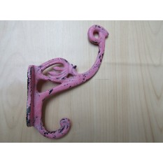 Swan P Coat Hook Pink Patina