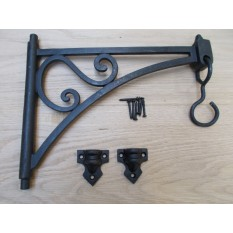 Swivel Hook Shelf Brackets Black Wax