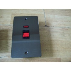 Black Nickel Switch Plate Tall DP Cooker Control Unit