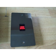 Black Nickel Switch Plate Tall DP Cooker Switch