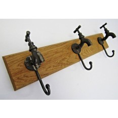 Antique Iron Tap Coat Hook Rail