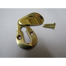 Pear Drop Escutcheon Polished Brass