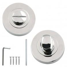 Bathroom Thumb Turn Door lock Polished Chrome