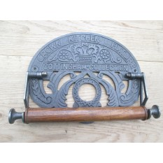 IRONMONGERY WORLD®CAST ANTIQUE IRON COUNTRY KITCHEN ROLL TEA TOWEL HOLDER WALL MOUNTED VINTAGE