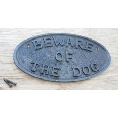 Traditional Beware of the Dog Sign