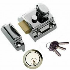 Traditional Rim Cylinder Narrow Night Latch chrome