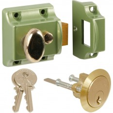 Traditional Rim Cylinder Narrow Night Latch Green