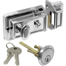 Traditional Rim Cylinder Standard Night Latch chrome