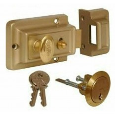 Traditional Rim Cylinder Standard Night Latch Brass