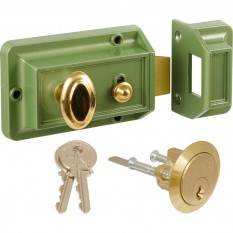 Traditional Rim Cylinder Standard Night Latch Green
