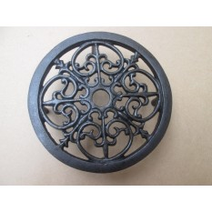 Cast Iron Ornate Round Trivet Antique Iron