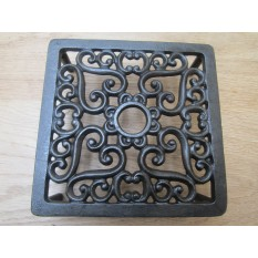 Cast Iron Ornate Square Trivet