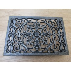 Cast Iron Ornate Rectangular Trivet