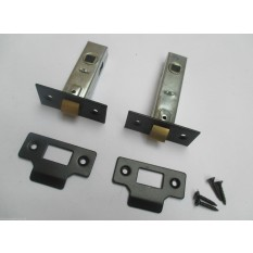 "2.5"" or 3"" Tubular Mortice Door Latch lock + fixings"