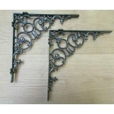 Pair Of Tulip Shelf Brackets Antique Iron
