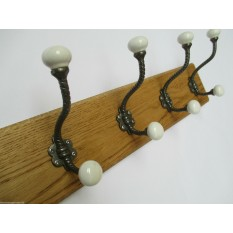 Twisted Ceramic Coat Hook Rail