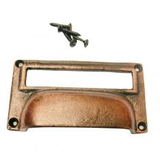 "4"" Victorian Filing Cabinet Card Holder Copper"