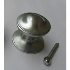 Victorian Centre Door Knob Satin Chrome