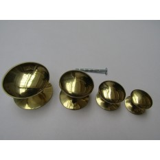 Victorian Cabinet Knob Polished Brass 30mm