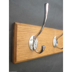 Polished Chrome Victorian Coat Hook Rail