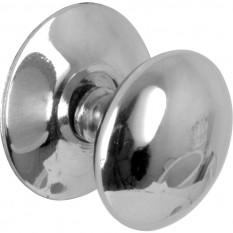 Victorian cabinet knob polished chrome 50mm