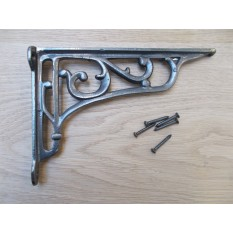 "VICTORIAN STYLE SCROLL BRACKET antique Iron 9"""