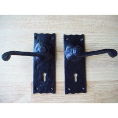 Victorian Scroll Lever Lock Handles