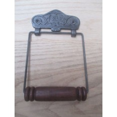 TOILET EMBOSSED Antique Iron Toilet Roll Holder