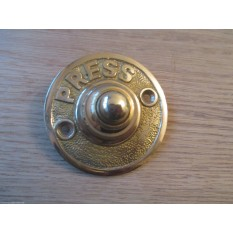 VICTORIAN TRADITIONAL OLD STYLE BELL PUSH DOOR BELL WIRED-POLISHED BRASS ROUND