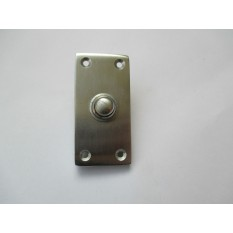 VICTORIAN TRADITIONAL OLD STYLE BELL PUSH DOOR BELL WIRED-SATIN BRUSHED CHROME