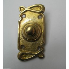 VICTORIAN TRADITIONAL OLD STYLE BELL PUSH DOOR BELL WIRED-ART NOUVEAU BRASS