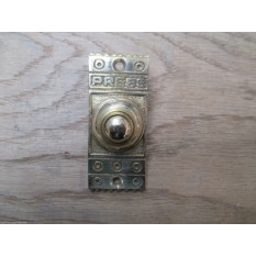 VICTORIAN TRADITIONAL OLD STYLE BELL PUSH DOOR BELL WIRED-BRASS DECORATIVE.