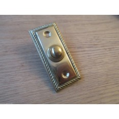 VICTORIAN TRADITIONAL OLD STYLE BELL PUSH DOOR BELL WIRED-POLISHED BRASS GEORGIAN