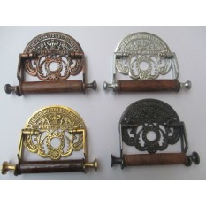 Vintage Antique old style Traditional Toilet Loo Roll Holder wall mounted CROWN TOILET FIXTURE