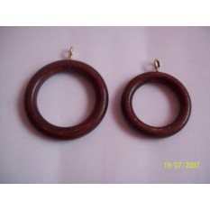 Walnut Curtain Rings