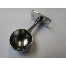 Chrome Retro Wardrobe Fittings End Bracket 25mm