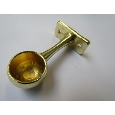 Brass Retro Wardrobe Fittings End Bracket 19mm