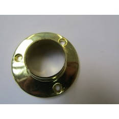 Brass Retro Wardrobe Fittings End Socket 19mm