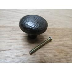 Warwick Mottled Beaten Cabinet Knob - antique iron