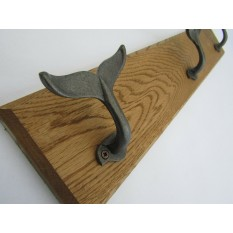 Antique Iron Whale Tail Hook Rail