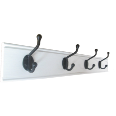 white gloss wood coat rack in 6 sizes of iron hooks