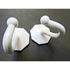 Pack of 2 Self adhesive hook White