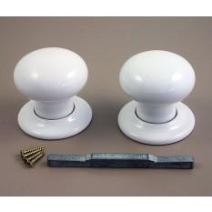 Mortice Door knob White Porcelain