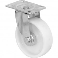 White Plastic Castor Wheel 125mm Swivel
