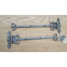 IRONMONGERY WORLD®Antique Wrought iron ornate fancy Decorative Door Gate t-hinge Tee Hinges