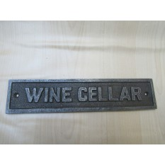 Cast Iron Wine Cellar Plaque