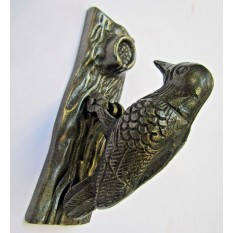 WOOD PECKER Door Knocker Cast Iron Vintage Old Ornate Style Door Knocker