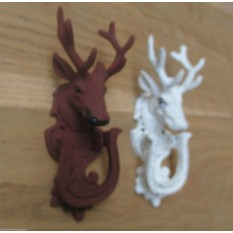 CAST IRON STAG DEER HEAD FRONT DOOR KNOCKER
