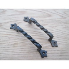 Twisted Cast Iron Cabinet Door Pull
