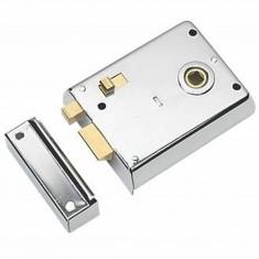 "Steel 4"" Rim latch with Snib Polished Chrome"